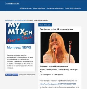 Parution sur site MyMontreux.ch